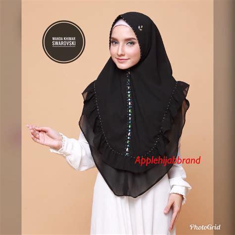Simple Khimar Antem Premium Quality Jilbab Cantik Jual Wanda Khimar Swarovski By Apple Brand Toko