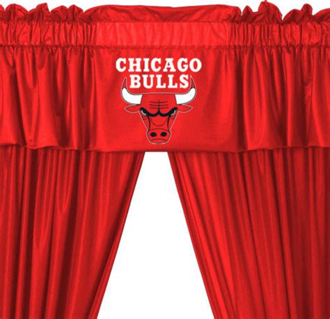 chicago curtains nba chicago bulls locker room valance and drapes