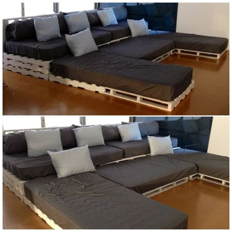 couch cinema u shaped pallet sofa ideas pallet wood projects