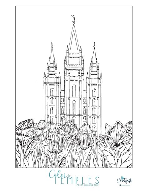 lds coloring pages temple coloring page coloring home