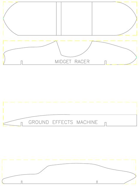 pinewood derby templates pinewood derby car template for free page 2