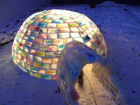 creative ideas   build  rainbow igloo  milk