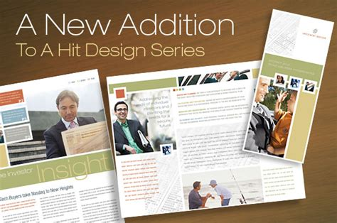 Best Financial Newsletter Tri Fold Brochure Layouts Templates For Financial Advisor