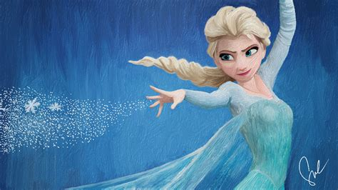 painting elsa and disney s frozen elsa the snow painting by
