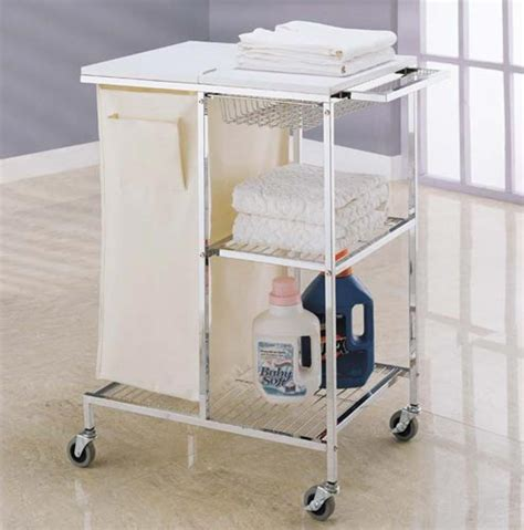 Mobile Laundry Station In Laundry Carts Laundry Room Storage Cart
