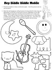 5 images printable hey diddle diddle activities