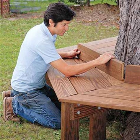 diy tree bench craftionary
