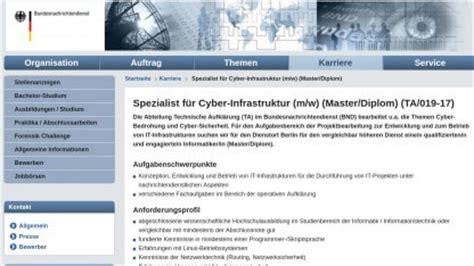 Bewerben Beim Bundesnachrichtendienst Forensik Challenge Lust Auf Eine Cyber Stelle Beim Bnd Golem De Hilft Golem De