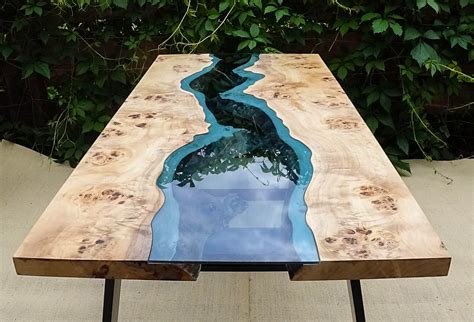 how to make a river table sold live edge river table with epoxy resin sold