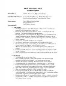Basketball Coach Sle Resume by High School Basketball Coach Resume Sles Of Resumes