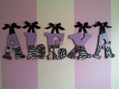 zebra print decorations for bedroom wooden letters for baby or kids room zebra by designsbymirandam 13 50 bedroom ideas