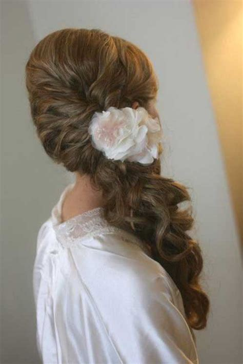 bridal hairstyles side ponytail 40 wedding hair images hairstyles haircuts 2016 2017