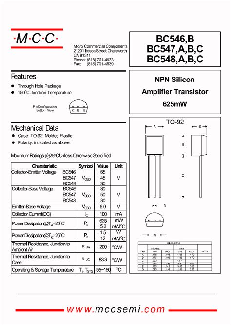 transistor bc547 pdf bc546b 187879 pdf datasheet ic on line