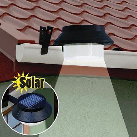 solar spot lights walmart outdoor black solar led spot light attaches to gutter