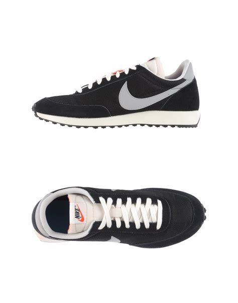 nike low tops trainers in black for lyst