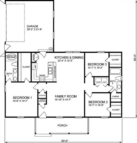 1400 square feet in meters 1400 square feet floor plan traditional style house plan 3 beds 2 baths 1400 sq ft