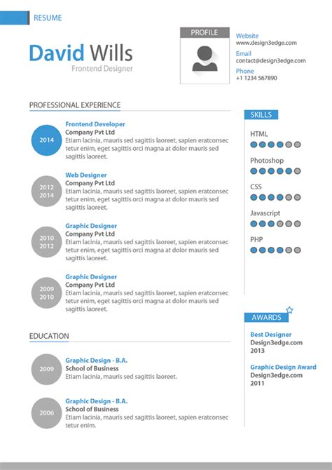 Hr Manager Sample Resume by Professional Resume Template Design Psd Design3edge Com