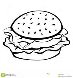 Black White Hamburger Food Illustration Stock Vector  Image 67049185 sketch template