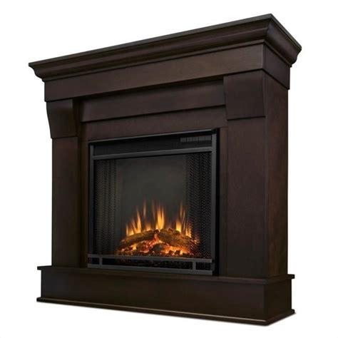 Walnut Electric Fireplace by Real Chateau Electric Fireplace In Walnut