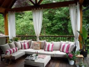 Outside Patio Decor Outdoor Curtains For Porch And Patio Designs 22 Summer