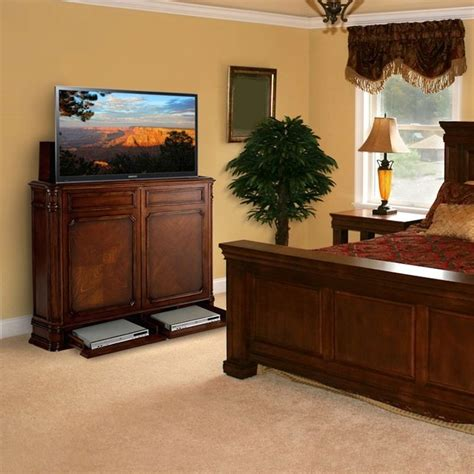 Bedroom Tv Lift Furniture Tv Lift Cabinets In Homes Traditional Bedroom Miami