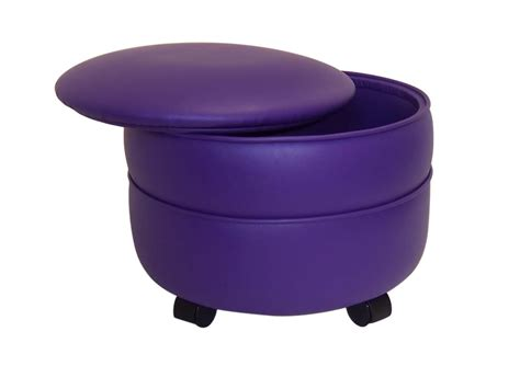 Purple Storage Ottoman Purple Vinyl Non Storage Ottoman Supplier