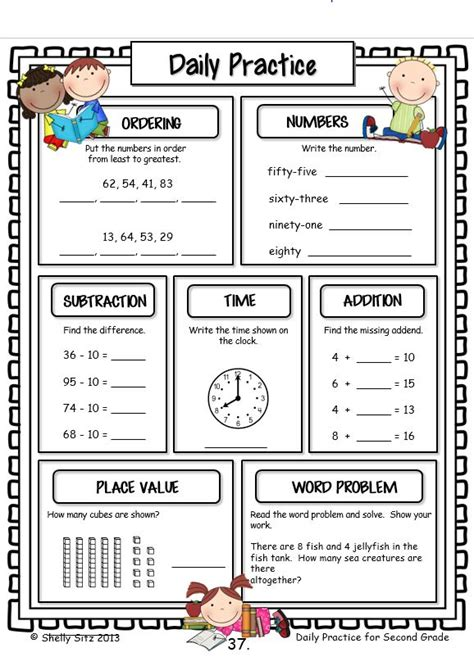 printable math review worksheets printables 2nd grade math review worksheets