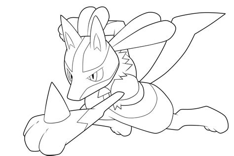 pokemon coloring pages gallade lucario lineart by moxie2d on deviantart