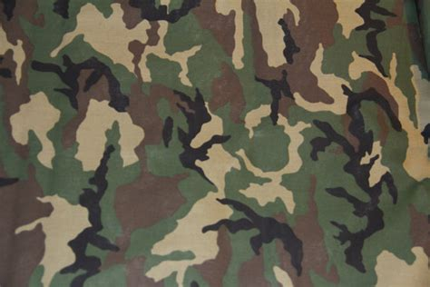 traditional army green and brown camouflage fabric per yard