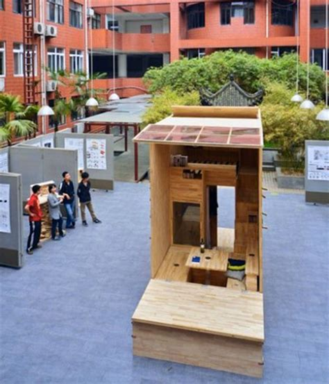 micro house architecture students in china build 75 sq ft tiny house