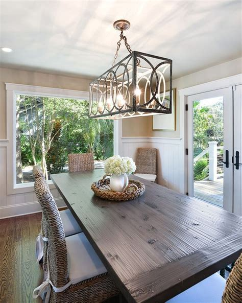 chandelier dining room best 25 rectangular chandelier ideas on