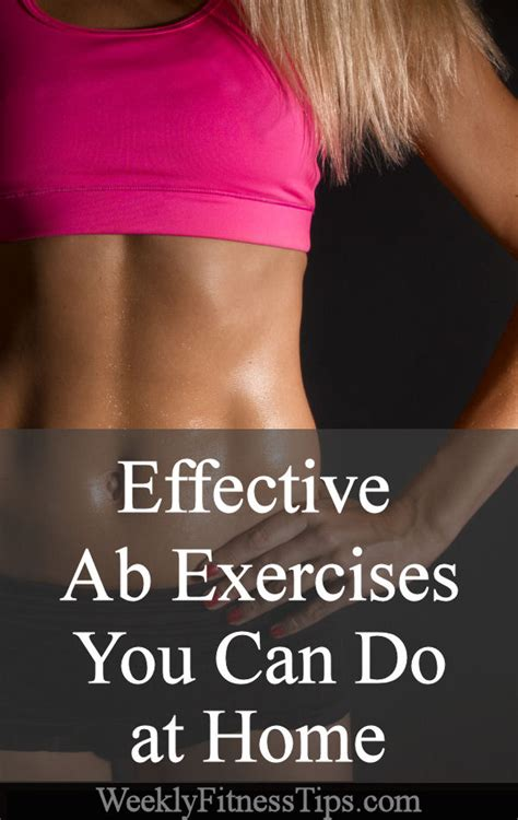effective ab exercises at home