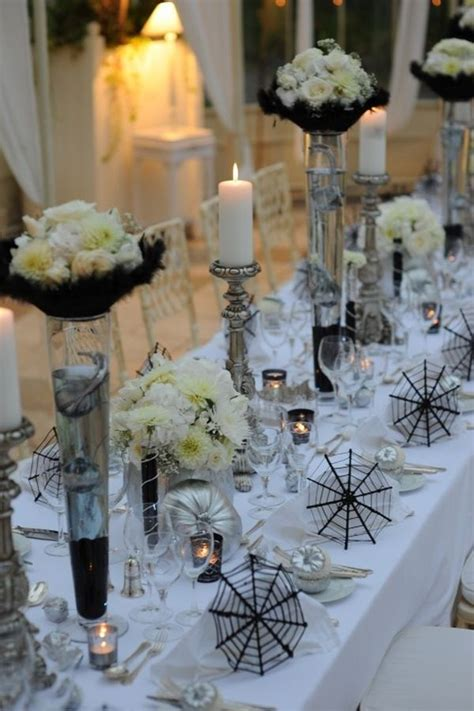 elegant table settings 19 halloween table d 233 cor ideas for a special kind of wedding