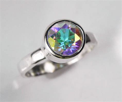 mystic topaz engagement ring unique from fantaseajewelry on