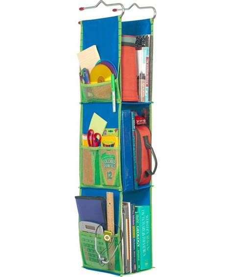 hanging locker organizer blue in locker organizers