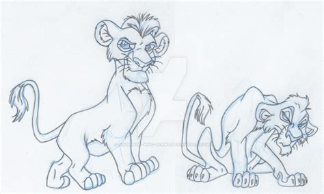doodle drawing animation cubs mufasa and scar animation drawing by animator who