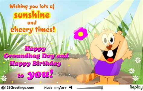 groundhog day birthday happy groundhog day greetings message picsmine