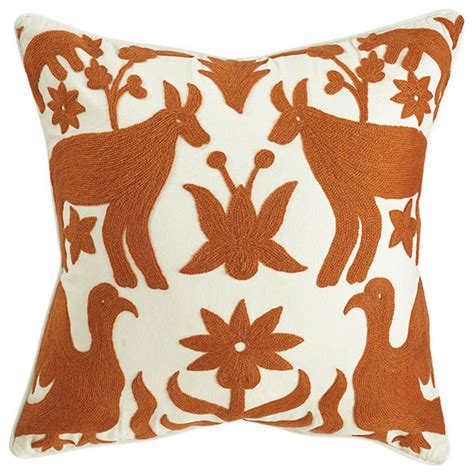 Otomi Pillows by Otomi Pillow Orange Eclectic Decorative Pillows