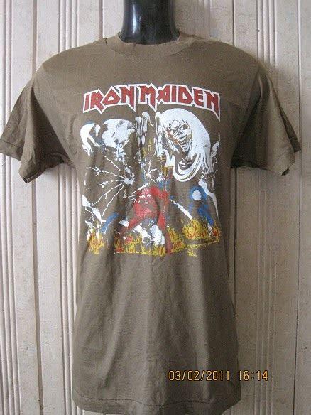 Baju Vintage Iron Maiden 7 60 bundle t shirt band vintage iron maiden tour 82 kain 50 50 sold