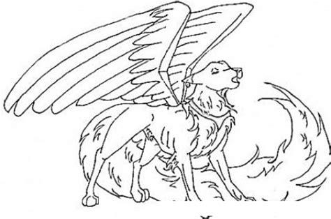imagenes para dibujar de zorros dibujo de perro con alas y cola de zorro para pintar y