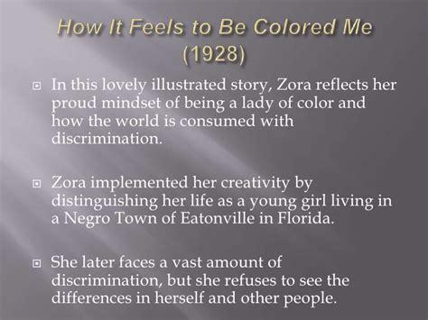 zora neale hurston how it feels to be colored me zora neale hurston
