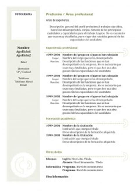 Plantilla De Curriculum Vitae En Chile Plantillas De Curr 237 Culum Vitae Hacer Curriculum