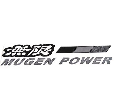 badge mugen power sticker v spec auto accessories