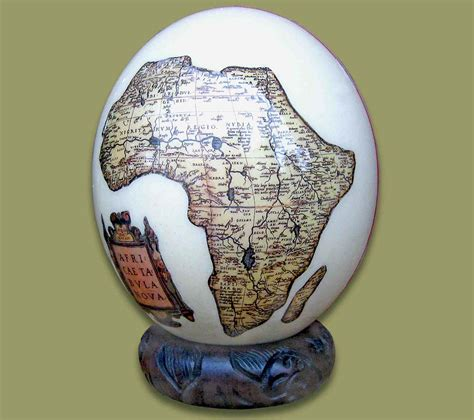 Decoupage Ostrich Eggs - ostrich egg decoupage map africa 1