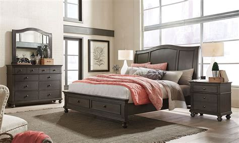 storehouse bedroom furniture the wave storage bedroom bed dresser mirror king