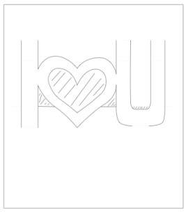 san card template pop up valentines card template i u paper kawaii