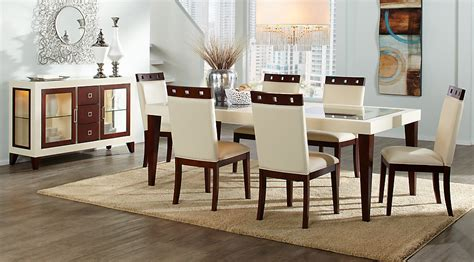 Leather Dining Room Chairs by Sofia Vergara Savona Ivory 5 Pc Rectangle Dining Room