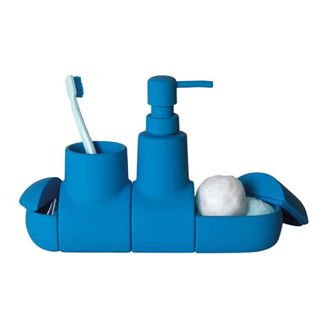 buy seletti submarino bathroom accessory light blue amara