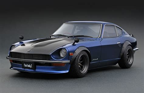 nissan fairlady z s30 ig0359 1 18 nissan fairlady z s30 blue line up