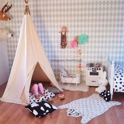 kids bedroom teepee kidsroom tipi tent ferm living brio kids room